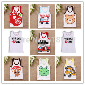 I love papa mama Baby t shirt Newborn Infants vest kids T-shirt children clothes for summer free shipping!