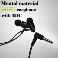 Brand metal in ear headphone,New earphones & headphones With Mic for apple earphone, headset for IPhone 4 5 5s phone mobile mp3
