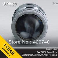 "3GQL 3.0"" inch 35W Xenon High Quality NEW HID Bixenon Projector Lens CCFL Angel eyes H1 H7 H4 H13 9004 9007 HB3 HB4 4300k 6000k"