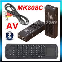 Updated version MK808C Mini PC Dual Core Android 4.2.2 Android TV BOX Wifi HDMI + AV Port Out + Bluetooth + Fly air mouse RC12