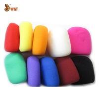 10 Pcs Multicolor Mic Windscreen Foam Grill Color Cover Sponge Audio Shield Professional Wholesale Hot Sales Free Shipping