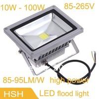 85-265V 10W 20W 30W 50W 70W 80W 100W landscape lighting IP65 led flood light floodlight led street lamp free shipping