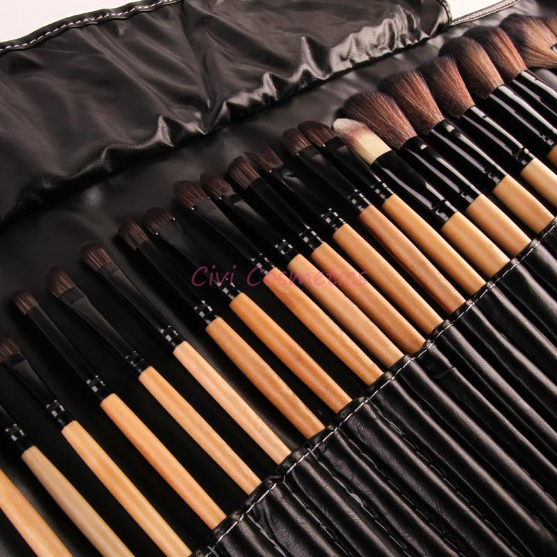 Stock Clearance !!! 32Pcs Print Logo Makeup Brushes Professional Cosmetic Make Up Brush Set The Best Quality!(China (Mainland))