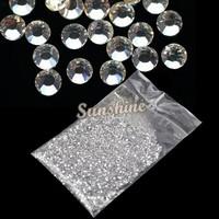 New 20000pcs Clear Glitter 1.5mm Hot Crystal Rhinestone,  Fix Rhinestone Nail Art Decoration Wholesale b26