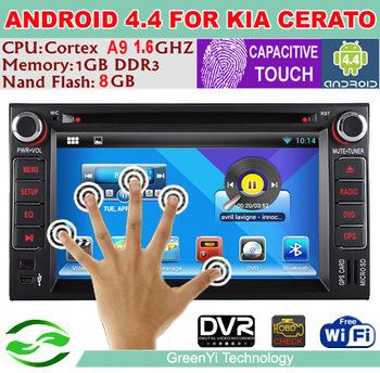 New Capacitive Screen Android 4.4 Car DVD GPS Player for Kia Ceed Cerato Sorento Rio Optima Sportage 1080p Stereo 3G WiFi