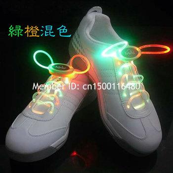 Voice Control LED Flashing Shoelace Optical Fiber Glowing Flash Light Up LED Shoelaces