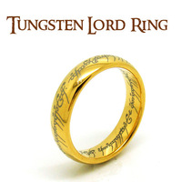 PROMOTION! My Precious! US Size 6-7-8-9-10-11-12 Tungsten One Ring Width 6mm The Lord of the Rings Gold Color Free Shipping