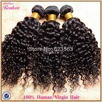 "indian curly hair 3pc 8""-30"" 300g indian water wave human hair extension cheap human hair weave curly indian virgin hair Realove"