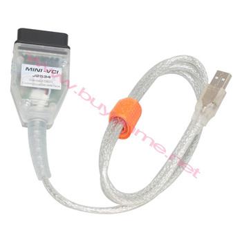 Buyonme QualityA+Mini VCI for Toyota TIS VCI J2534 Tech Stream Mini VCI OBD Diagnostic Interface V8.00.034 Toyota TIS OBD2 2013