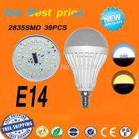 10pcs/lot LED bulb lamp High brightness E14 4w 6w 9w 12w 15w 5730SMD Cold white/warm white AC220V 230V 240V Free shipping
