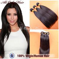 """Cheap Peruvian Virgin Hair Straight 3Pcs Lot Peruvian Straight Virgin Hair Extension Natural Black Hair 8""""-30"""" 100% Human Hair"""