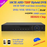 home surveillance 16ch full 960H D1 security wifi DVR HDMI 1080P 16 channel DVR NVR CCTV DVR Recorder HI3531 chip+Free shipping