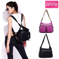 women backpack canvas tactical backpack rucksack purple black shoulder bag messenger bag BFK010861