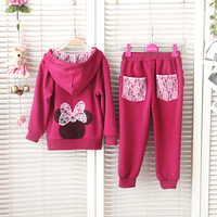 2013 autumn new style children sports suit clothing sets baby girls jackets pants 2pcs girls clothes set autumn-summer wear