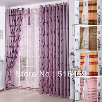 2013 new high-end European-style semi-jacquard blackout curtains,tulle,Sunshade heat insulation finished custom Home decor