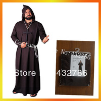 Free Shipping Retail(1 pieces)and Wholesale Halloween Carnival Costume Monk Robes Men Costumes JSMC-0230