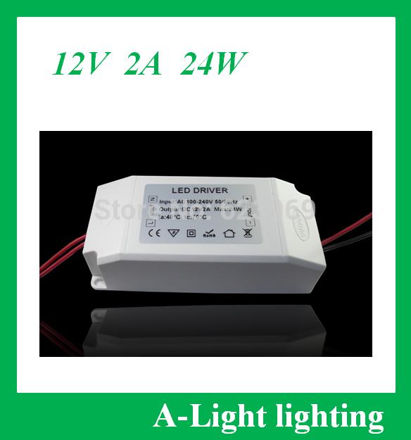 A- luce 307 spedizione gratuita led di alimentazione 24w dc 12v 2a adattatore ac100-240v di dc12v 2a 12v driver led per striscia led lampada
