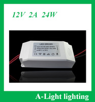 [A-Light ]307 free shipping Led Power Supply 24W DC 12V 2A adapter AC100-240V to DC12V 2A Led Driver 12v for Led Strip led lamp