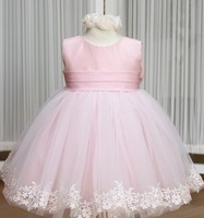 new 2014 branded baby girls party dresses children kids princess flower lace clothing autumn -summer kids tutu dress