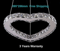 New Design heart shape LED crystal chandelier light lamp with the size 395*286mm 3years warranty  modern