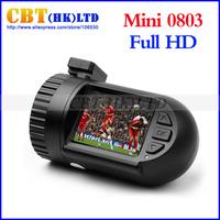 Original Mini 0801 0803 Car dvr camera recorder Ambarella A7 LA50D/A2S60 AR0330/OV2710 1296P/1080P Optional GPS/8GB black box