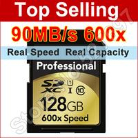 90MB/s Brand Lexar 600x 16GB 32GB SDHC 64GB 128GB SDXC SD Card Class 10 Flash Memory Card For Canon Nikon Digital SLR Camera DV