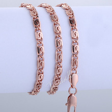 Customized 4 5mm Womens Girls Chain Necklace Snail 18K Rose Gold Filled Necklace wholesale fashion jewelry