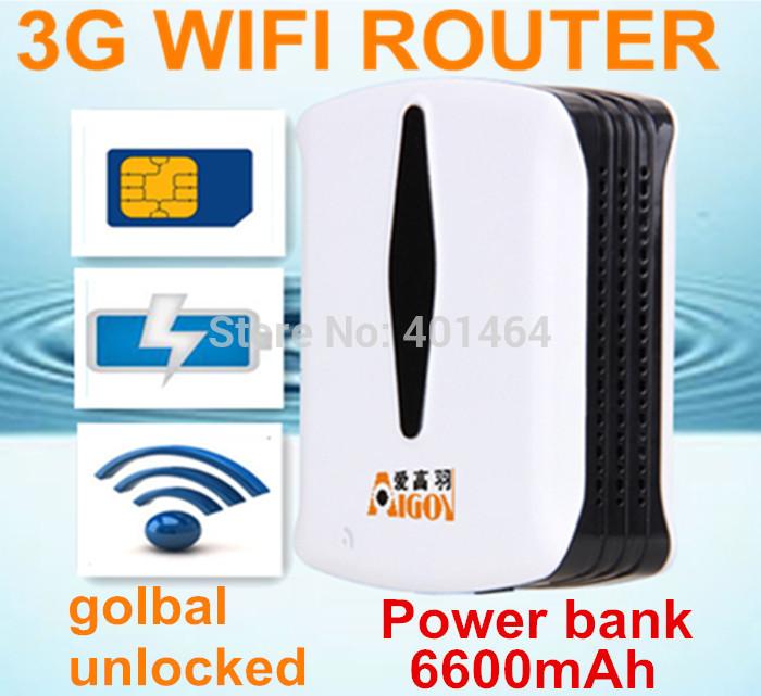 Unlocked Pocket Portable Mobile Mifi 3.75G 3G Wifi Router Modem Wi fi Wireless Router with Sim Slot 6600mAh PowerBank New!!(China (Mainland))