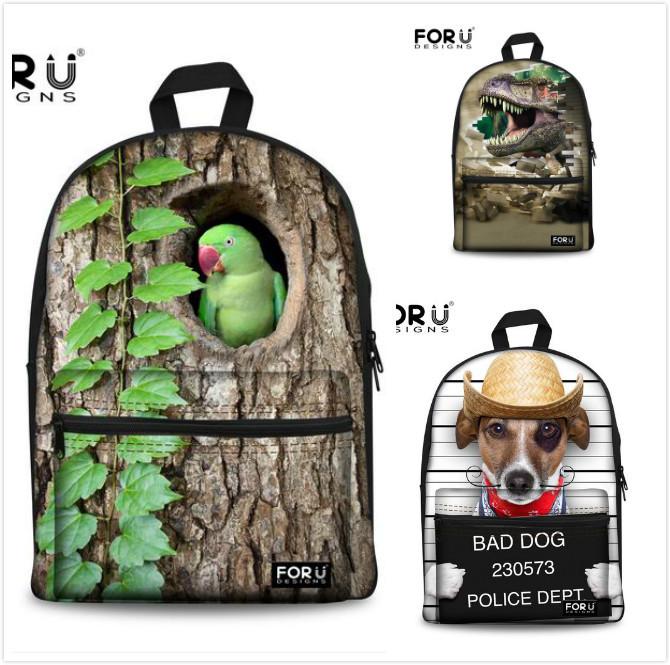 Brand 3D animal dinosaur face backpack cute teenager girls school backpack women rucksack sylish children bagpack school bags(China (Mainland))