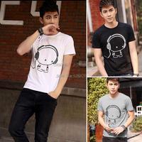 Hot Sale New 2014 Fashion Spring Summer Men T-Shirt Short-Sleeve Casual T-Shirt Men Brand New Plus Size Men T Shirt #12 SV006250