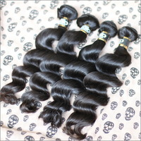Queen Hair Products 2Pcs/Lot Brazilian Virgin Hair Loose Wave Natural Color Raw Human Hair Weaves Shipping Free