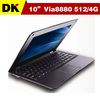 cheap New 10inch mini netbook laptops  WinCE 6.0 / Android4.0 webacm 512M 4G Via 8850 laptop Free shipping(Hong Kong)