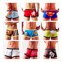 Many Styles-Mix Order/Wholesale,Hotsale,Men Boxers Cartoon Underwear,Size(M,L,XL),Popular Underpants,MOQ 1 Pcs !