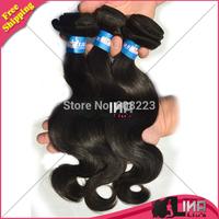 Human Hair weaves brazilian virgin hair body wave 8inch-30inch 300g/lot  color 1b# 6A Virgin hair products free shipping