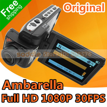 "Black Color Car DVR Original DOD F900LHD with 2.7"" LCD + Full HD 1080P + H.264 + Amberalla Chip + 3M Holder FreeShipping!"