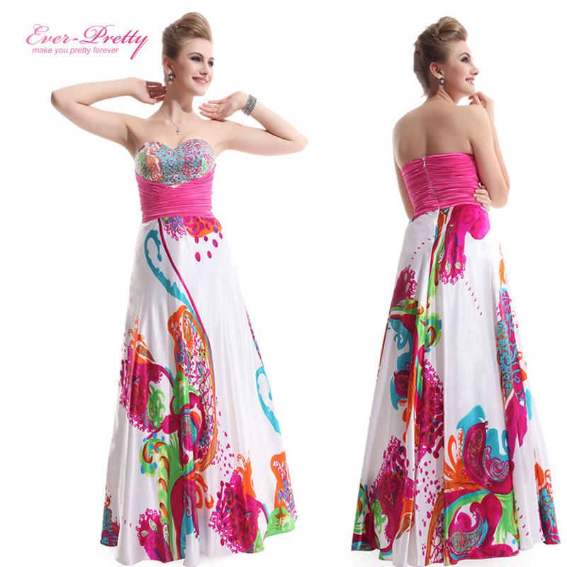 9633 senza spalline piega floreale stampato abiti da ballo 2014 lungo abiti da sera festa