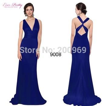 HE09008 Sexy V - образный вырез Elegant Cross Evening Party Dresses Длинный Formal ...