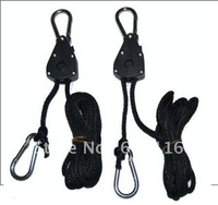 FREE SHIPPING+hydroponic ratchet tie down  ratchet straps  150LB rope ratchet heavy-duty shade Lighting Hanger