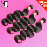 6A Peruvian Virgin Hair Body Wave 8-28 inch 3pcs/lot H J Peruvian Body Wave Virgin Hair  Weave Free Shipping