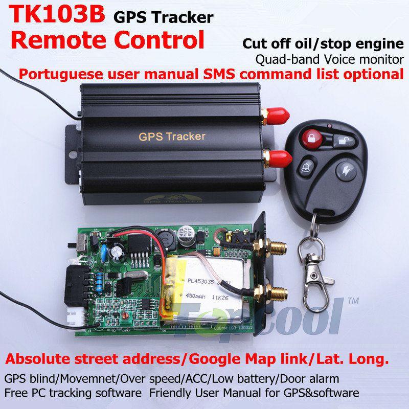 TK103B GPS tracker+Remote Control Phone Tracking GPS Rastreamento GPS103 Car Alarm GPS tracking system Car GPS Tracker Vehicle(China (Mainland))