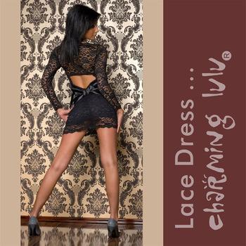 100498,100499,100500 M,XL,XXL Women Super Sexy Open Back Mini Lace Dress + Guaranteed 100% Quality + Free Shipping