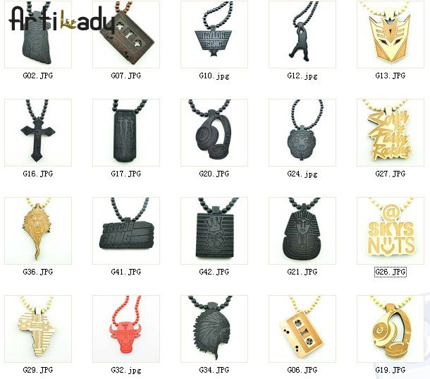 Artilady BIG SALE ! New arrival 47styles goodwood necklaces hotsale hip pop styles famaous star lover(China (Mainland))