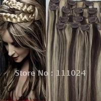 20''queen  brazilian virgin  hair weft products,free shipping,10 years'manufacture experience,2/613#  dark brown&light blonde