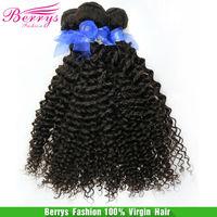 "Mongolian Kinky deep Curly Berrys Fashion Hair Products , (12""-28"") 3Pcsg/lot  6A Grade Human Hair Weaves"
