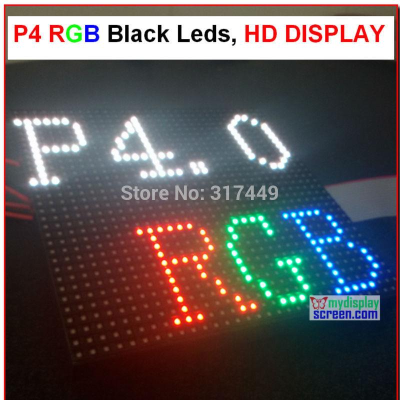 p4 led display module 4mm pixel indoor rgb full color led display screen 1/16 scan 128*128mm 32*32 pixel p4 full color module(China (Mainland))