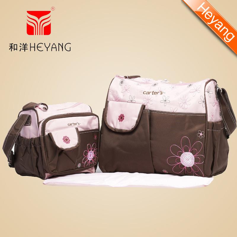 Free shipping Wholesale Fashion 3 pcs 2colors carters microfiber diaper bag carter's designer baby bag maternity bag HY-1110(China (Mainland))