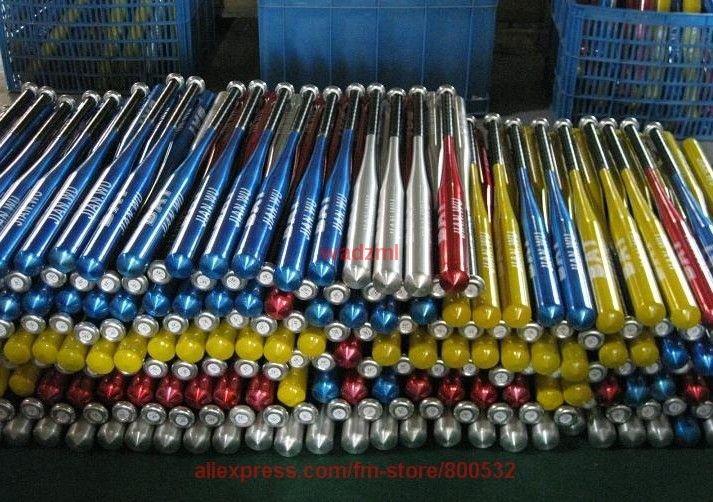 1pc 25 inch (62cm) baseball bats aluminium alloy baseball bat sports  Red black,silver,blue to mix