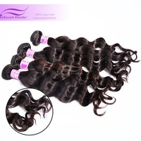 2pcs/lot 6A malaysian human virgin hair weaves, virgin malaysian hair loose wave weave hair free shipping, tangle free