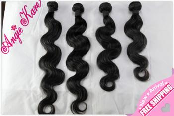 "brazikian bodywave hair 4pcs/lots 100G/PCS 1b# , 10""-30"" GRADEAAAAA"