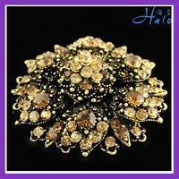 Free Shipping 6pcs/lot Gold Plated Tone Vintage Crown Brooches For Wedding Invitations Rhinestone Brooch Pin P233-043A